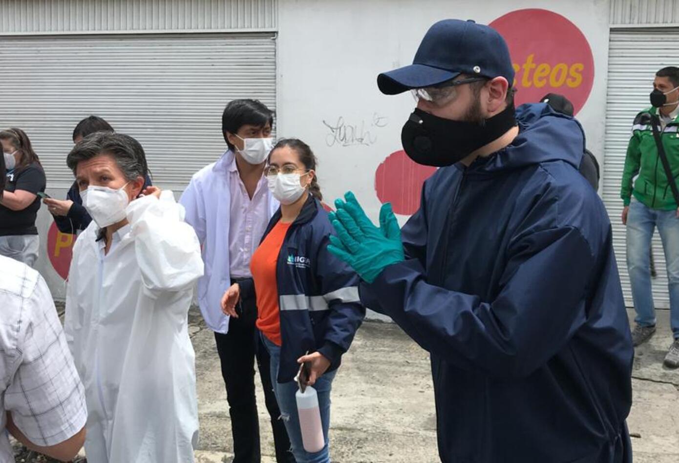 La alcaldesa estuvo con las autoridades locales de Antonio Nariño, dando pautas de autocuidado