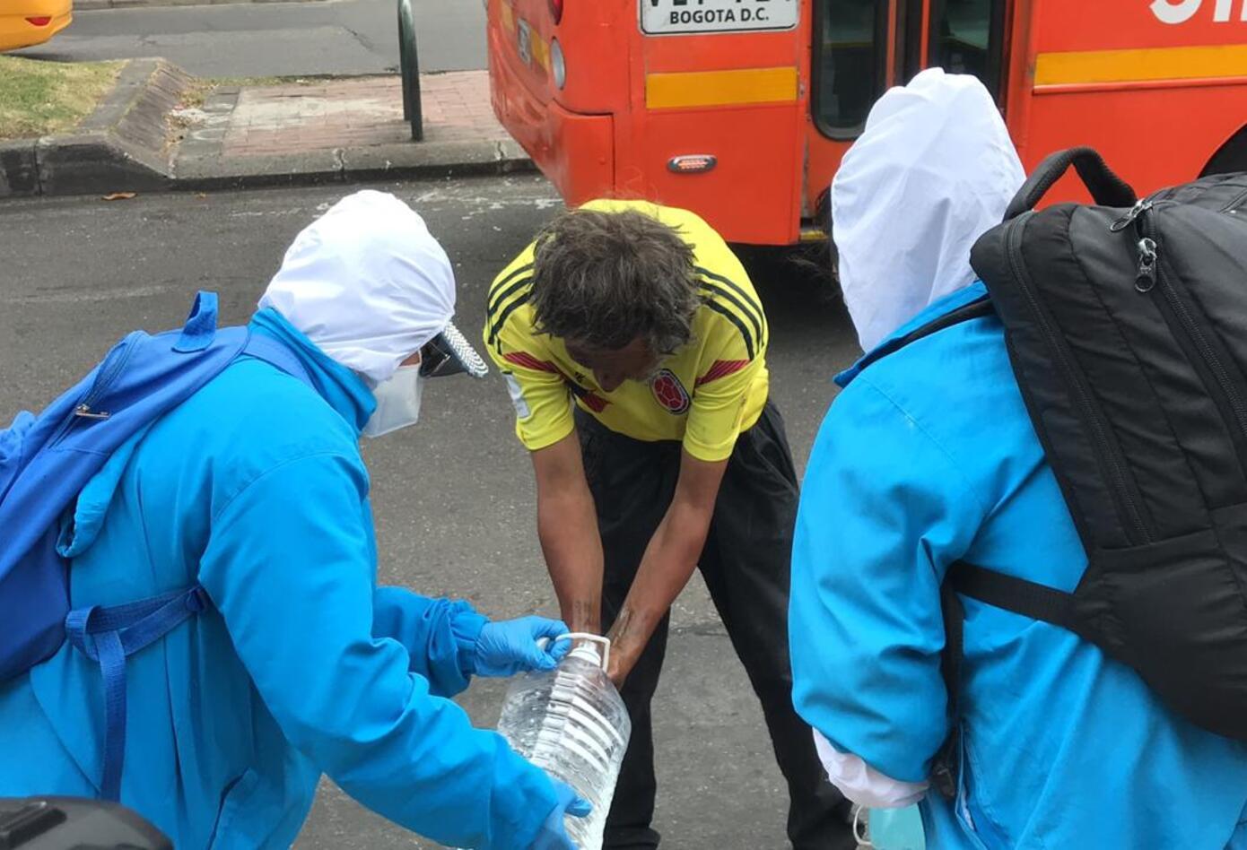 Habitantes de calle de Antonio Nariño fueron atendidos, en plena pandemia