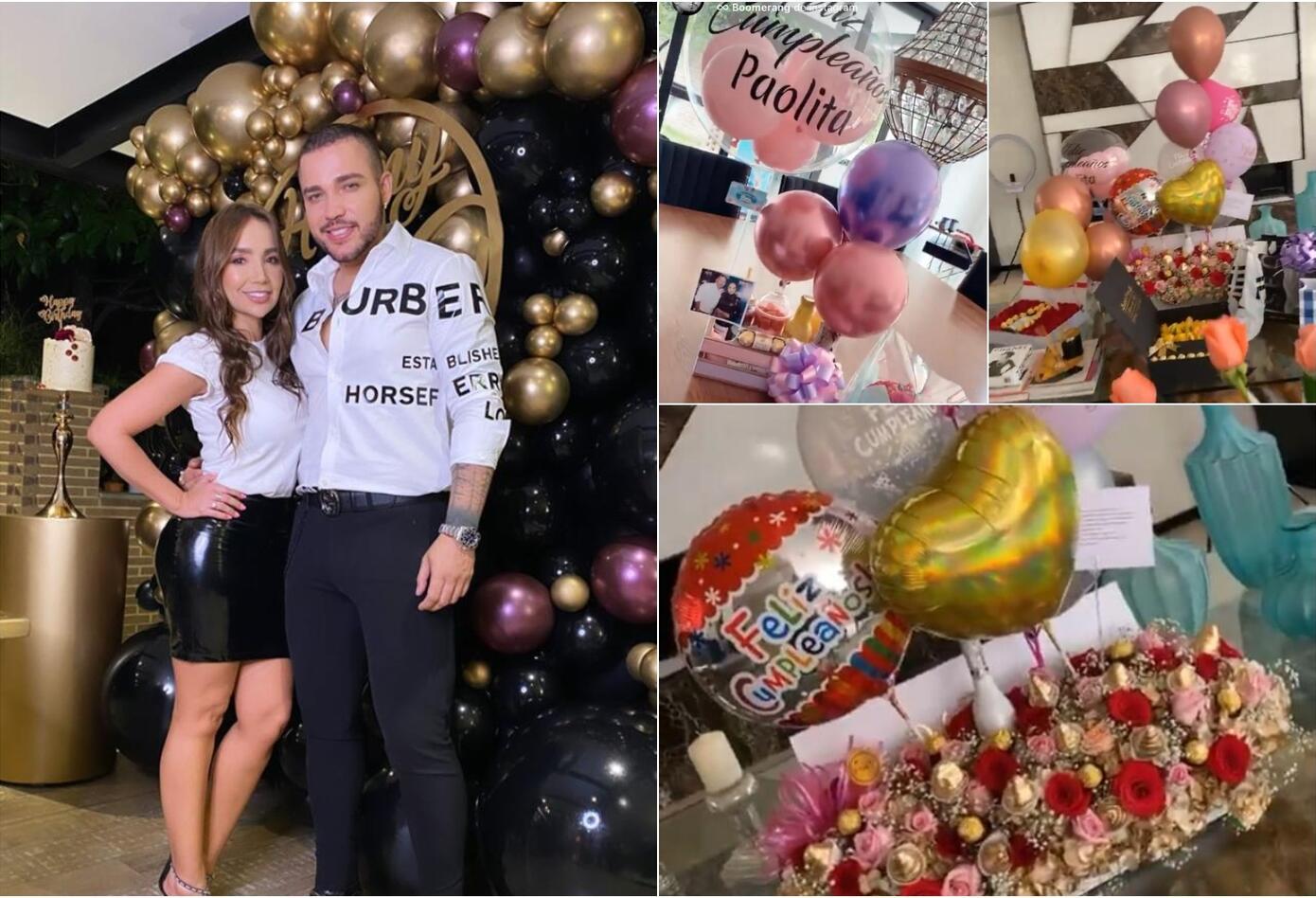 Paola Jara y Jessi Uribe en la celebración de su cumpleaños número 37