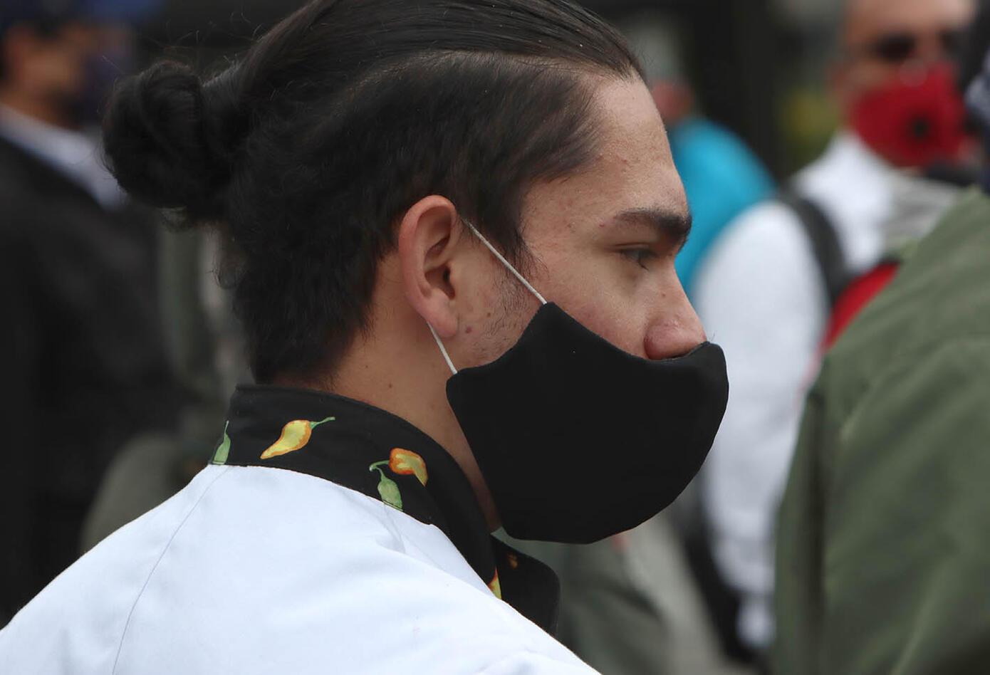 Protesta de meseros en Corferias