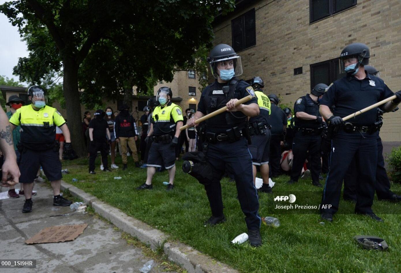 Protestas en Boston por la muerte de George Floyd