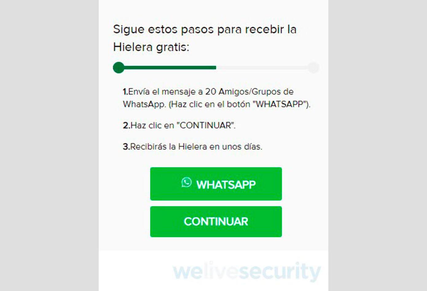 Estafa en WhatsApp con suplantación de Heiniken