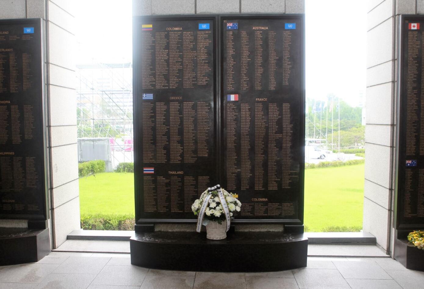 Monumento a los soldados que participaron en la guerra en Corea.