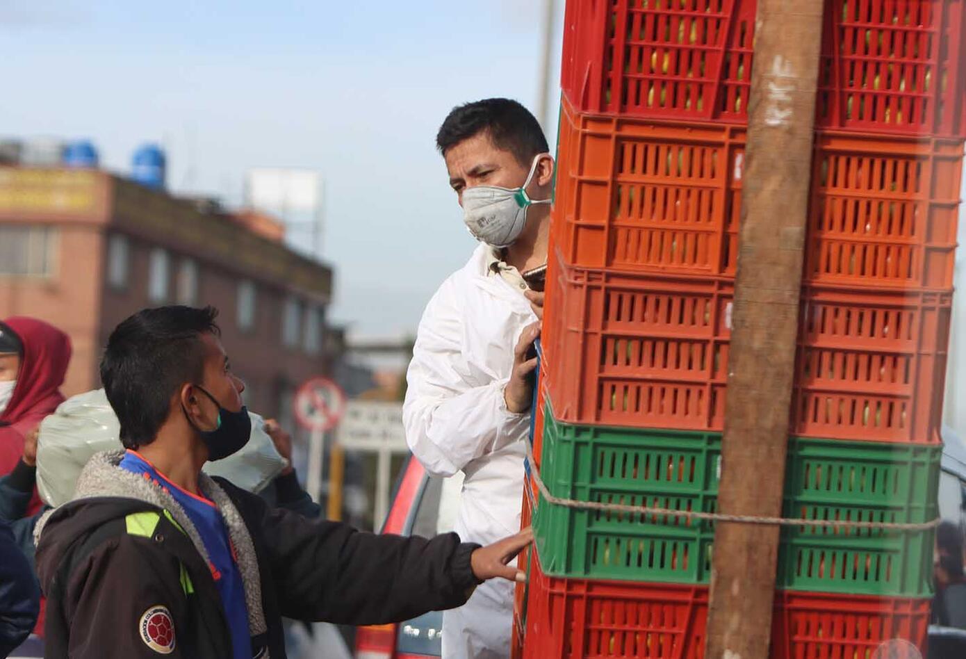 Corabastos, en medio de caos en cuarentena obligatoria en Kennedy / coronavirus en Colombia