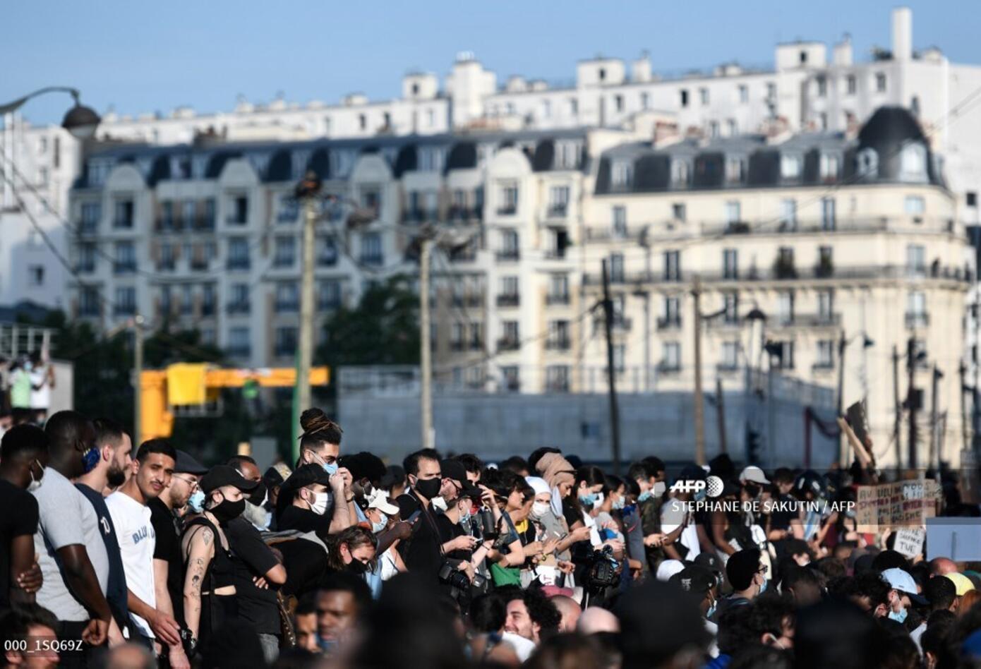 Protestas en París 2 de junio de 2020