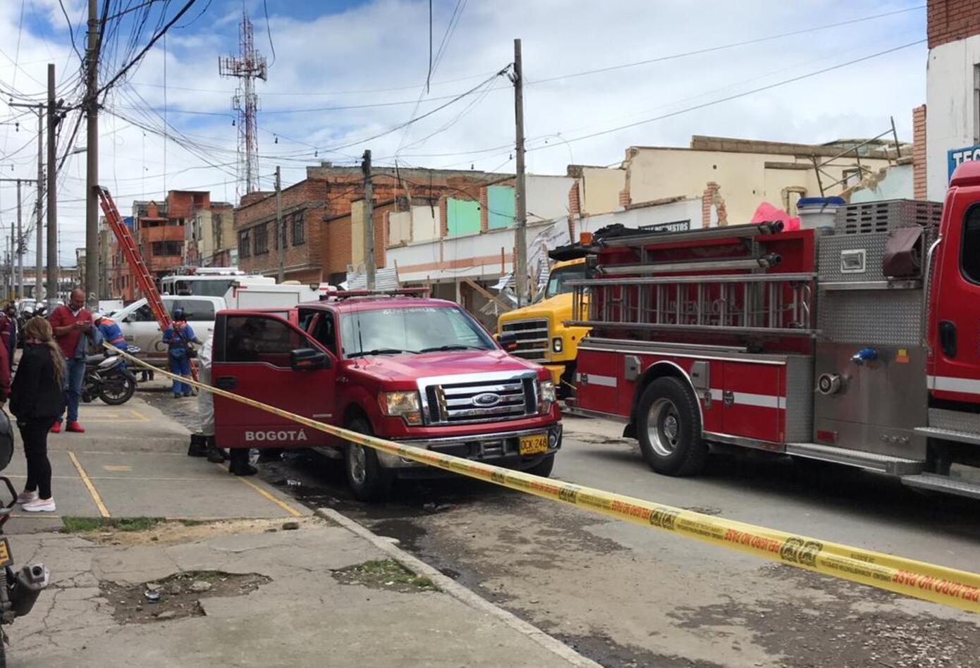 Explosión en Bogotá en plena pandemia