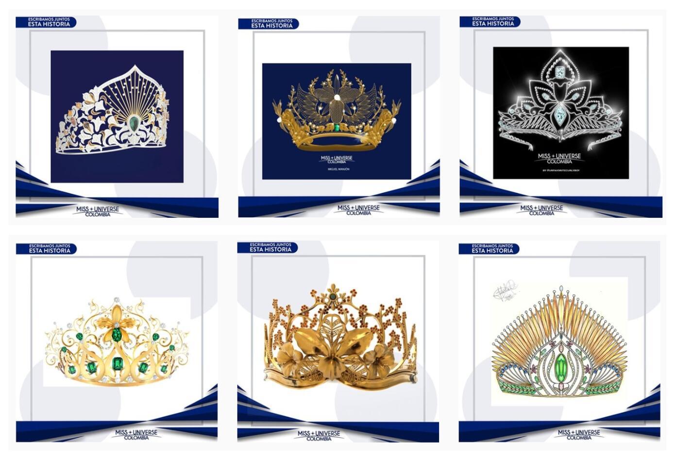 Diseño coronas de Miss Universo Colombia