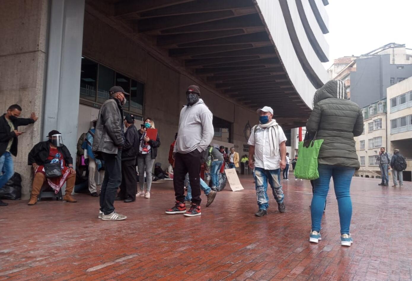 Los desplazados piden apoyo de las autoridades nacionales