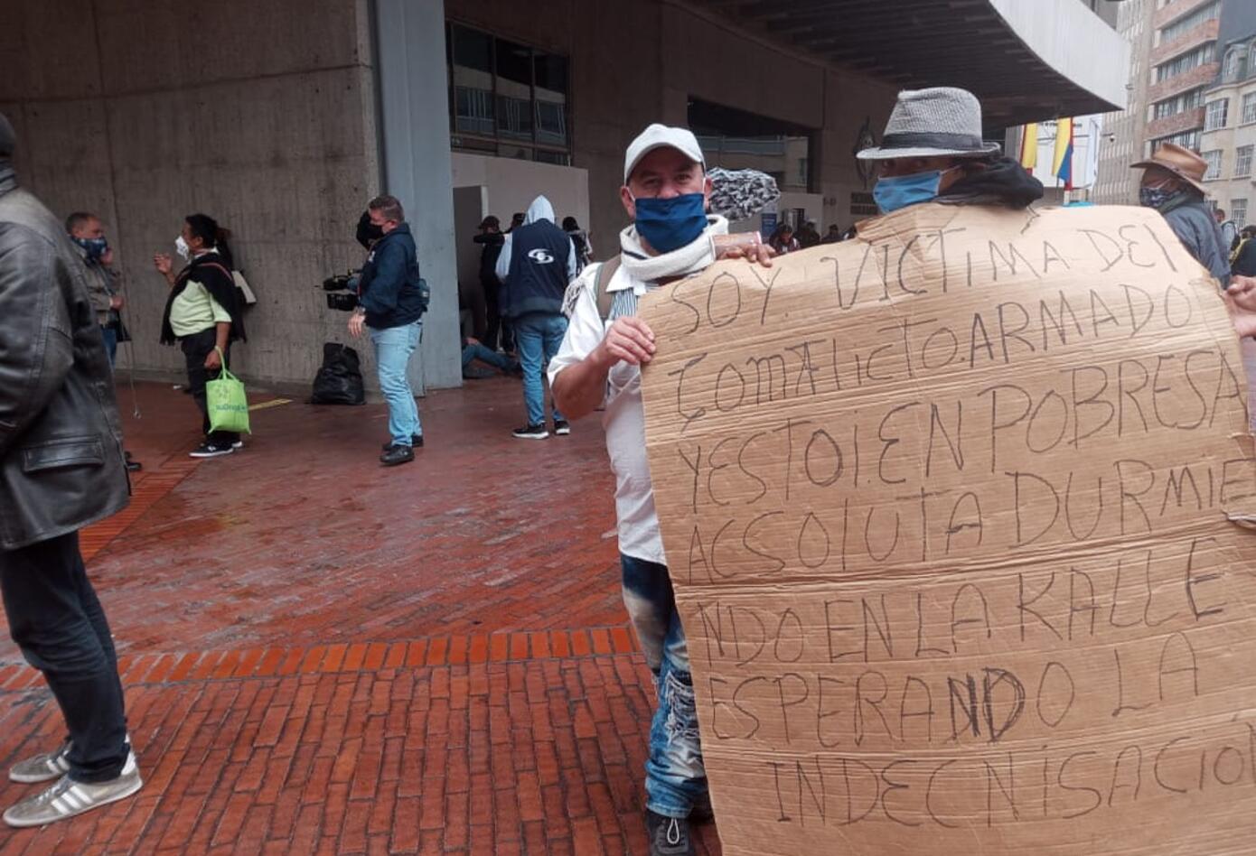 Desplazados piden ayuda de la Procuraduría en Bogotá