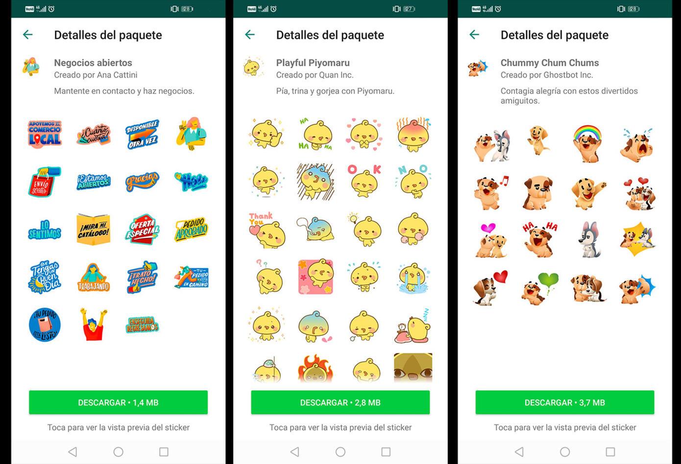 Stickers animados de WhatsApp