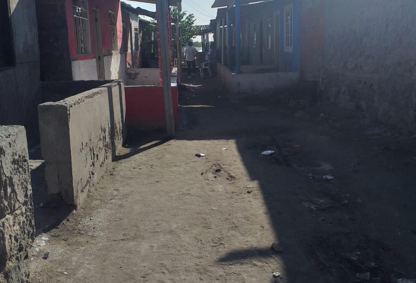 La población de Tasajera muestra su silencio y dolor, sus calles solas cargadas de dolor