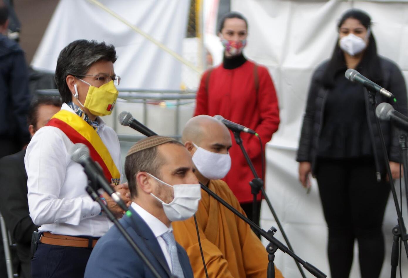 Claudia López / Celebración de cumpleaños de Bogotá en pandemia