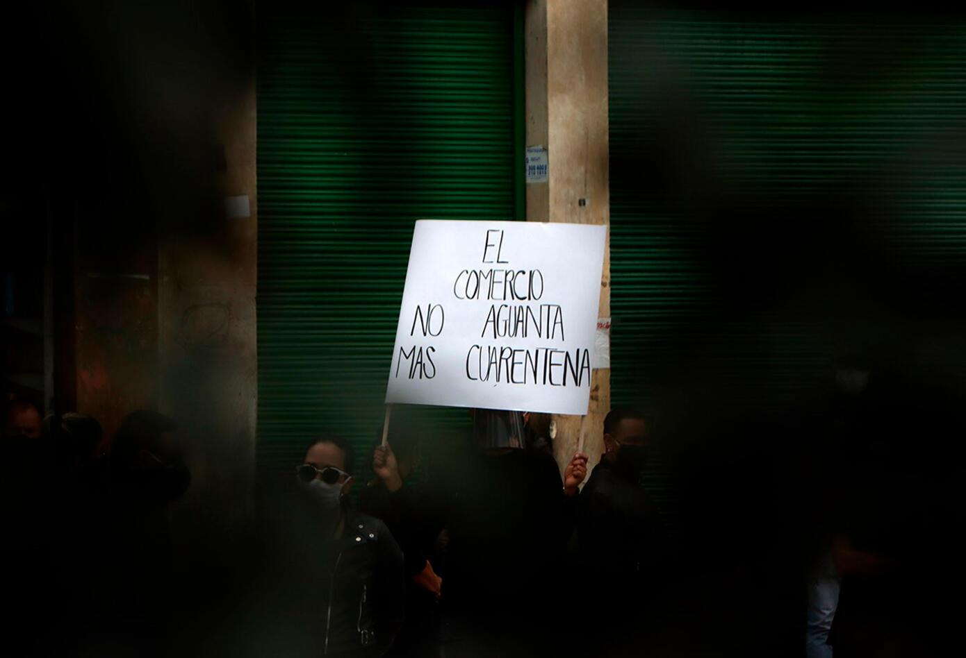 Comerciantes de San Victorino adelantan protesta