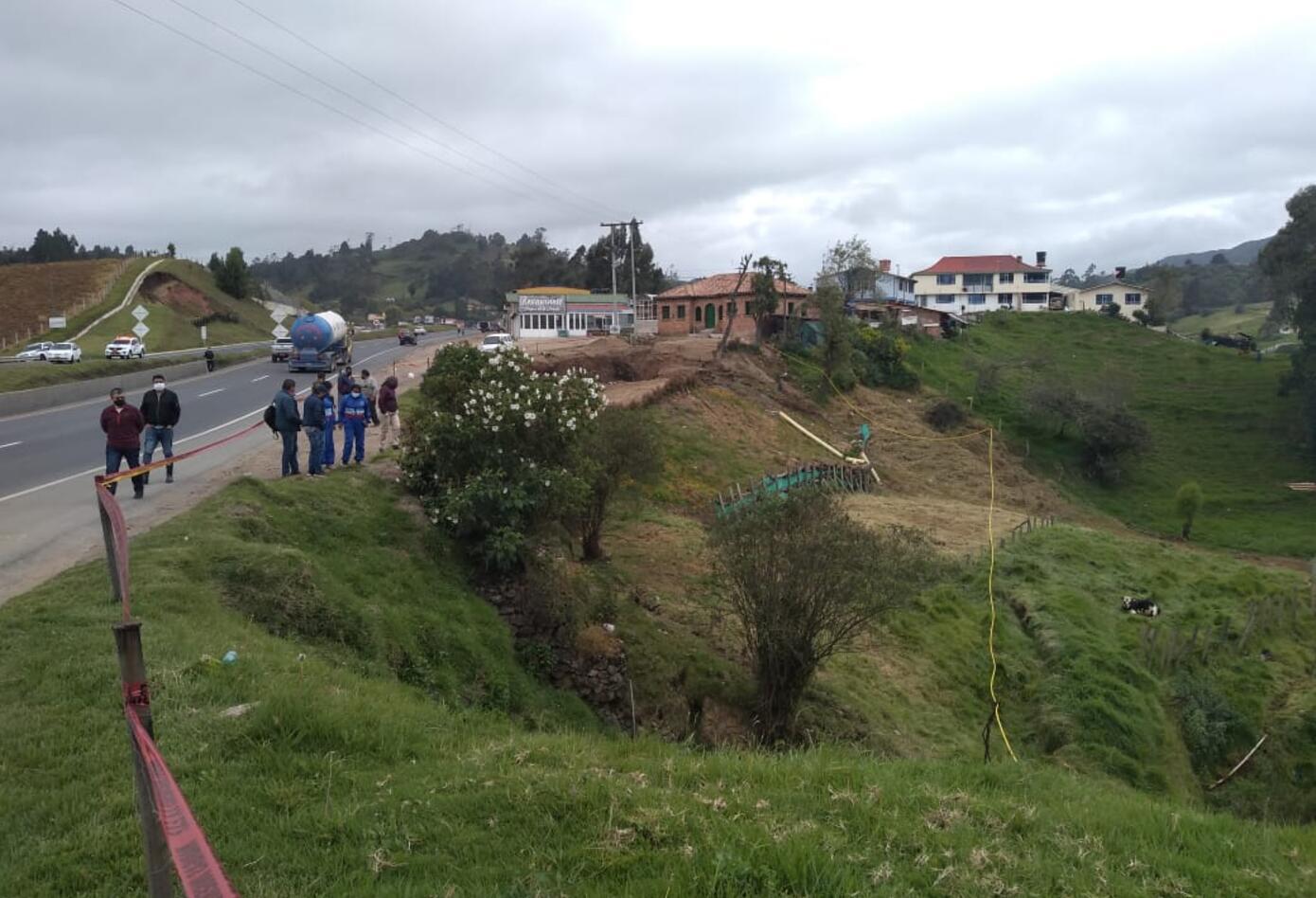 Derrumbe en Ventaquemada