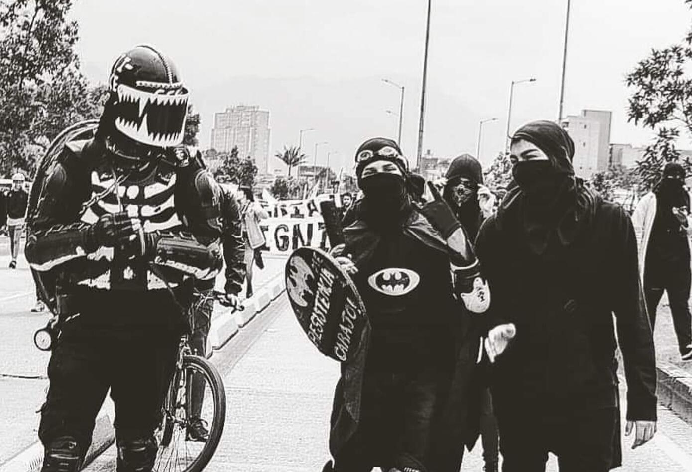 Familiar de miembro del Esmad en protestas 2