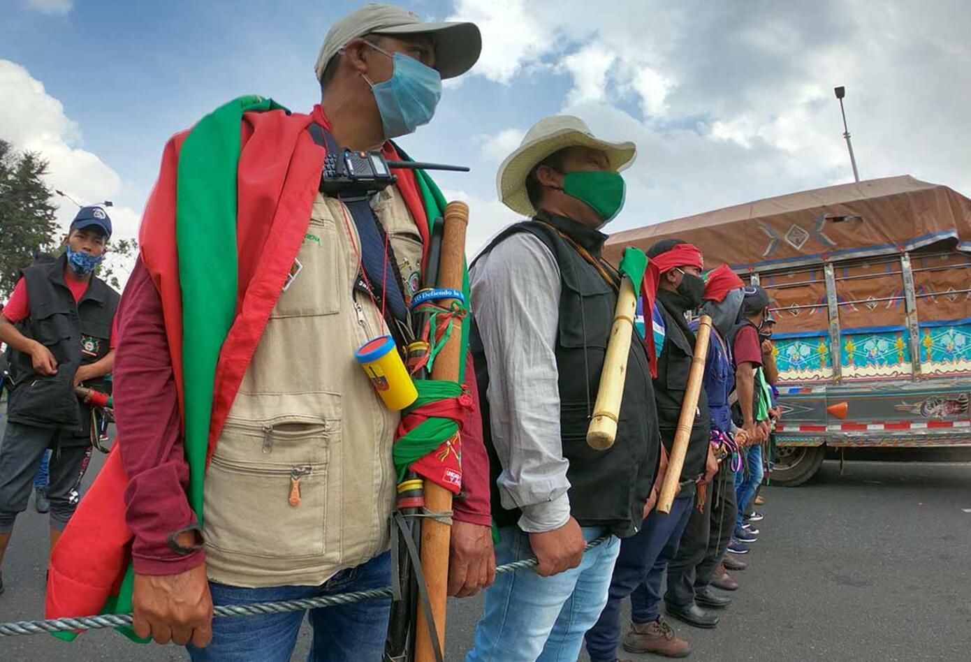 Minga indígena y su recorrido por Bogotá