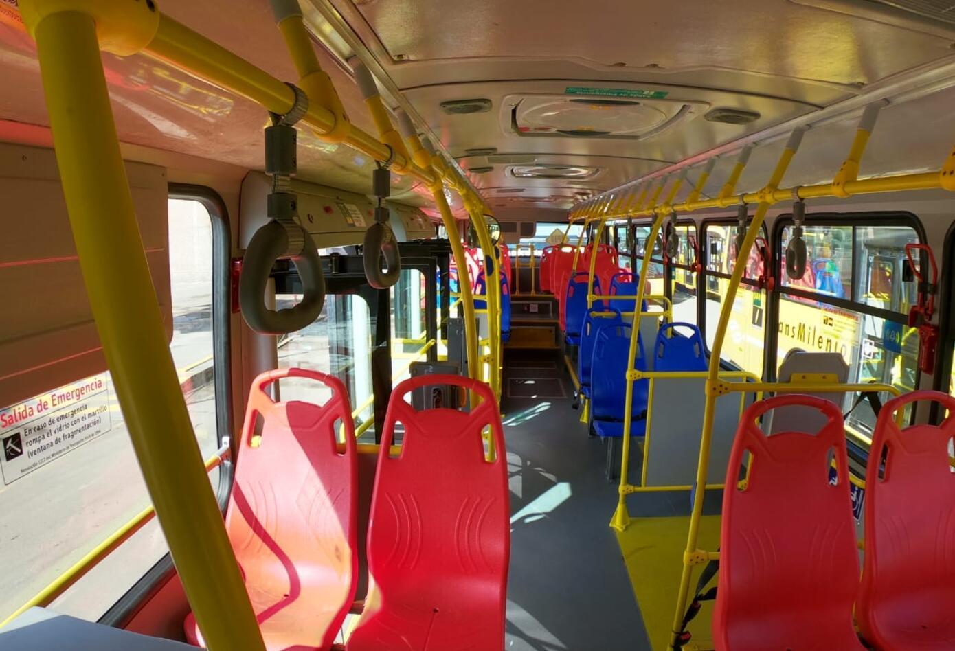 Nuevos buses amarillos de Transmilenio