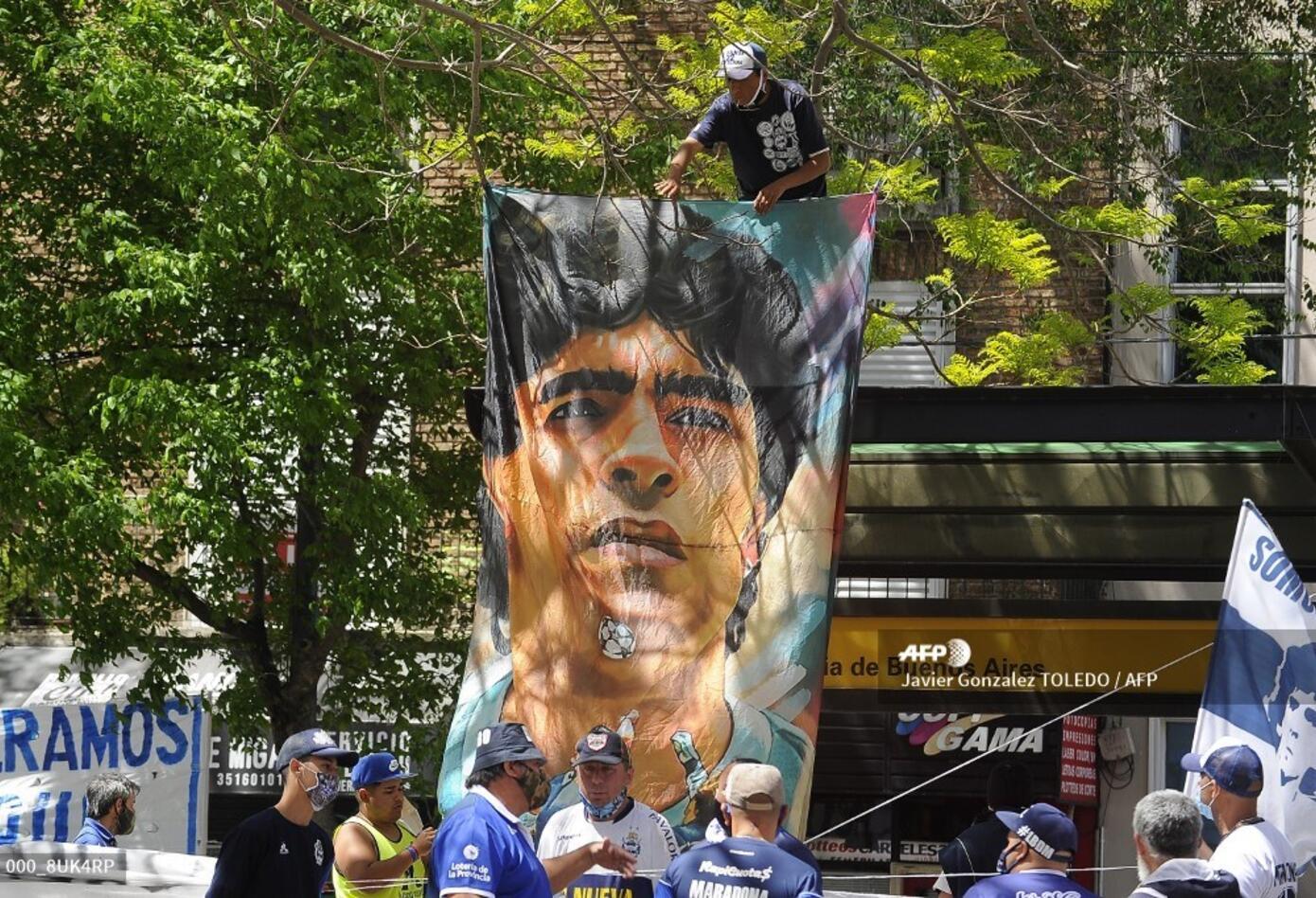 Diego Maradona. hospital