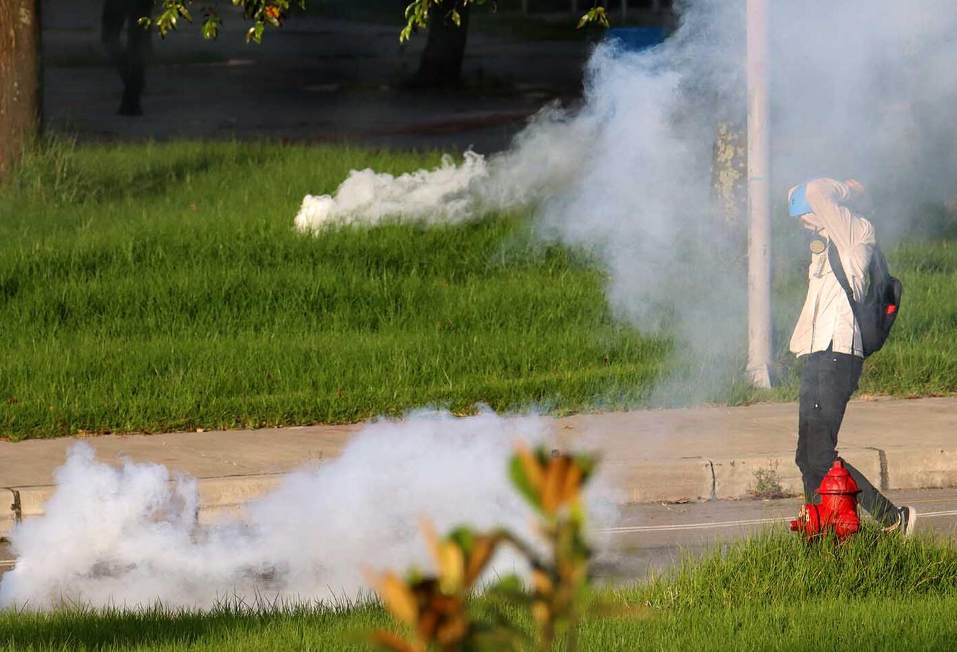 Disturbios en la Universidad Nacional el sábado 21 de noviembre de 2020