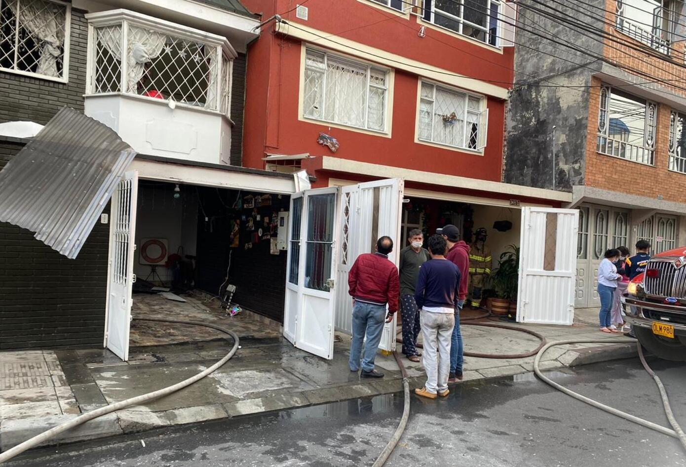 Incendio de vivienda en Bogotá