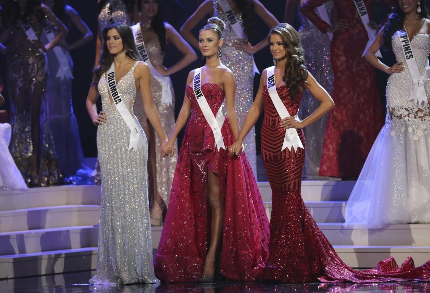 Paulina Vega y las otras dos finalistas de Miss Universo en 2015