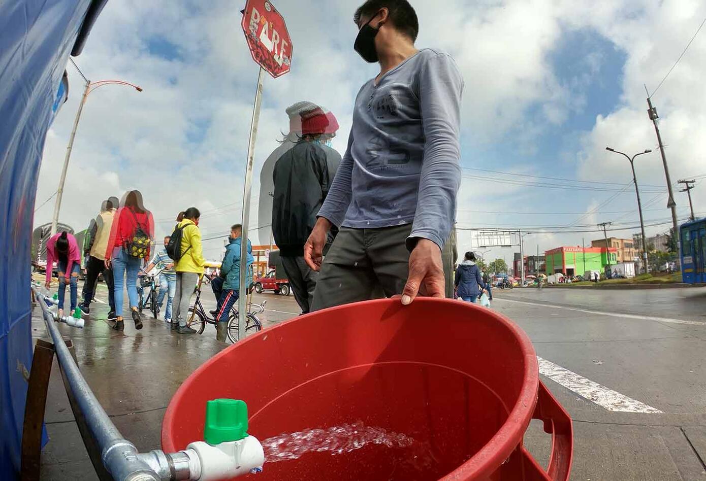 Cortes de agua en Bogotá - obras de acueducto por Metro de Bogotá