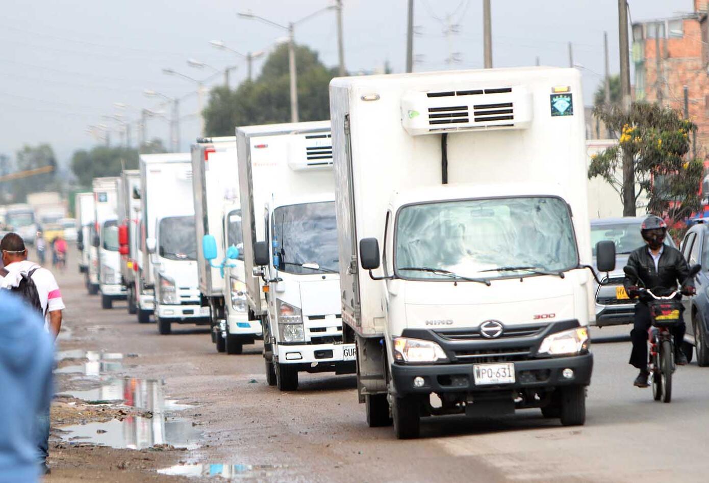 Protestas de camioneros en Bogotá