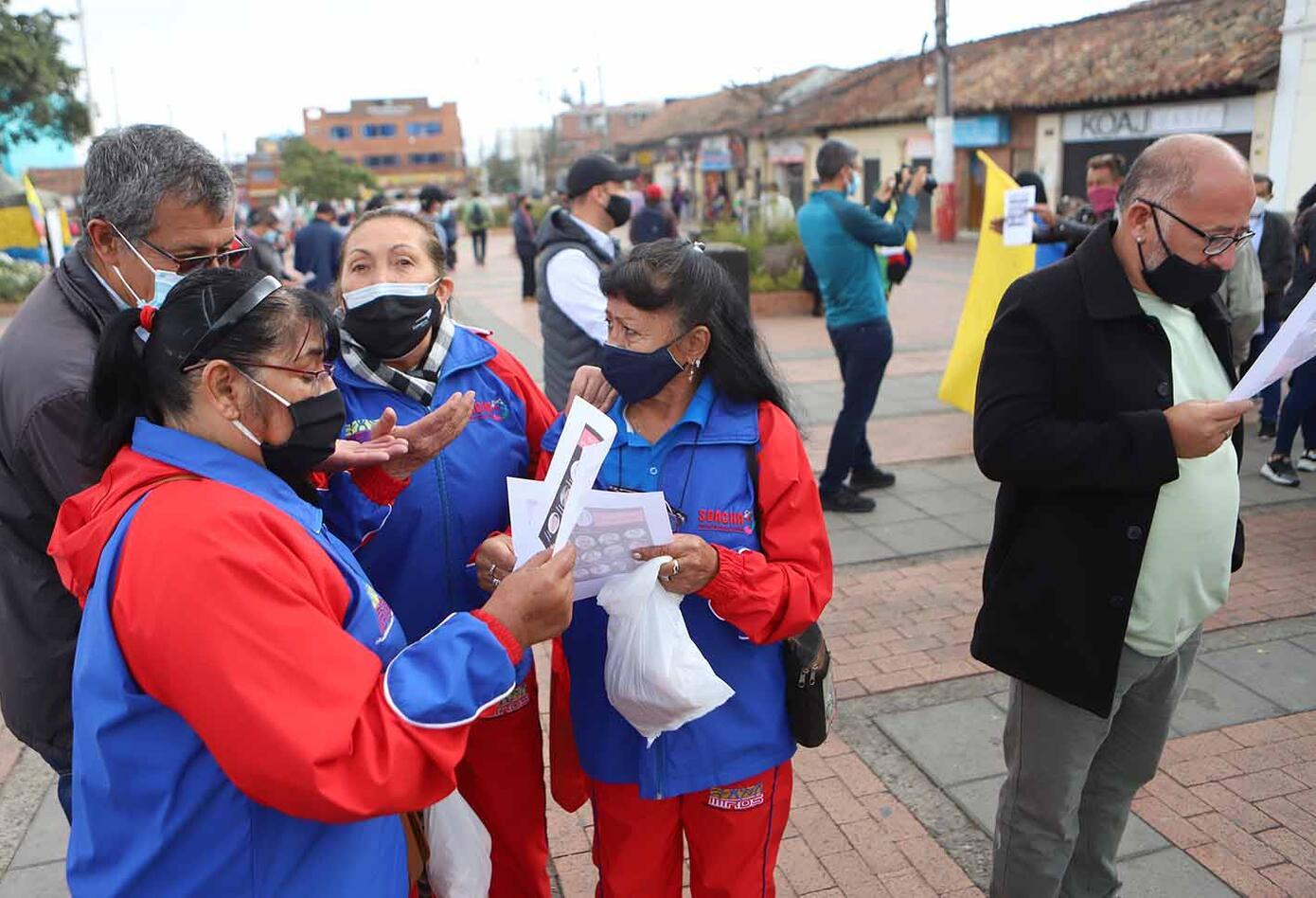 Protesta en Soacha contra el predial, 22 de febrero de 2021