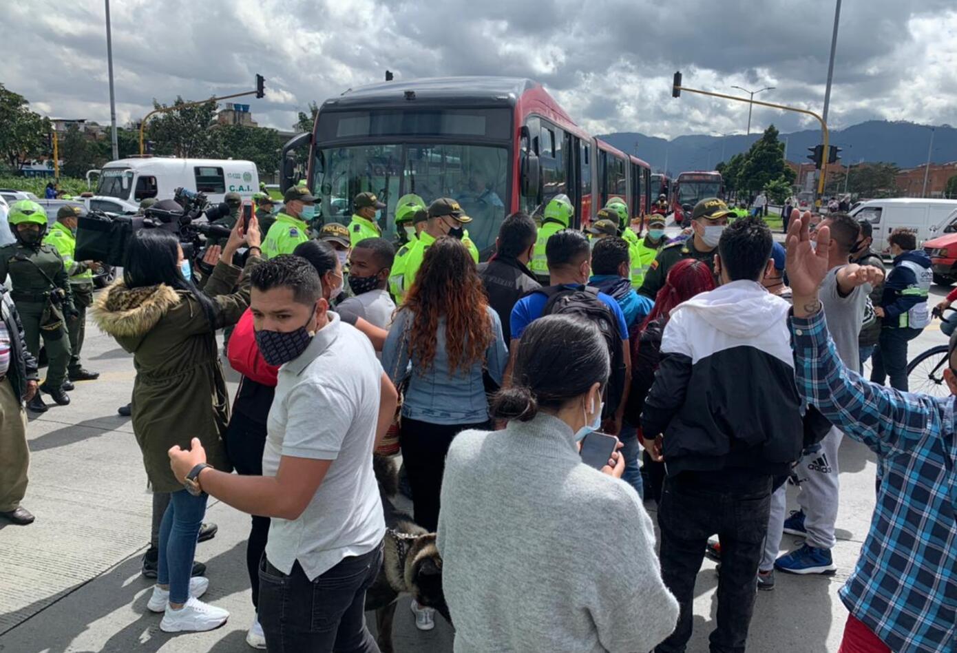 Protesta en Bogotá