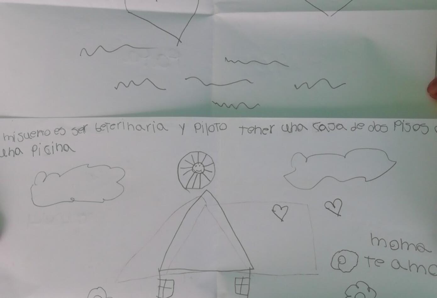 Carta de niño en San Andrés