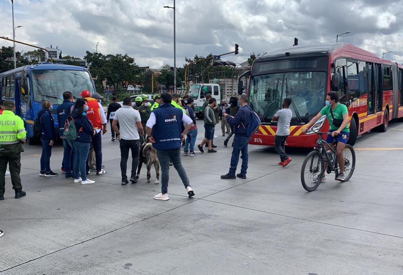 Protestas en Bogotá por reforma tributaria y cuarentenas