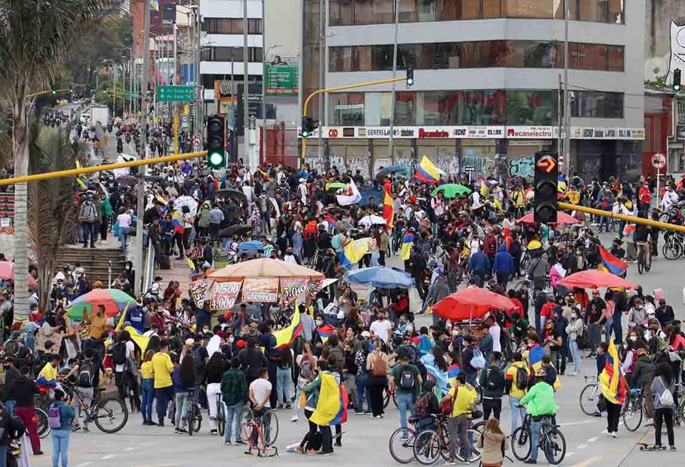 Paro nacional Colombia: protesta pacífica en Los Héroes el 12 de mayo de 2021