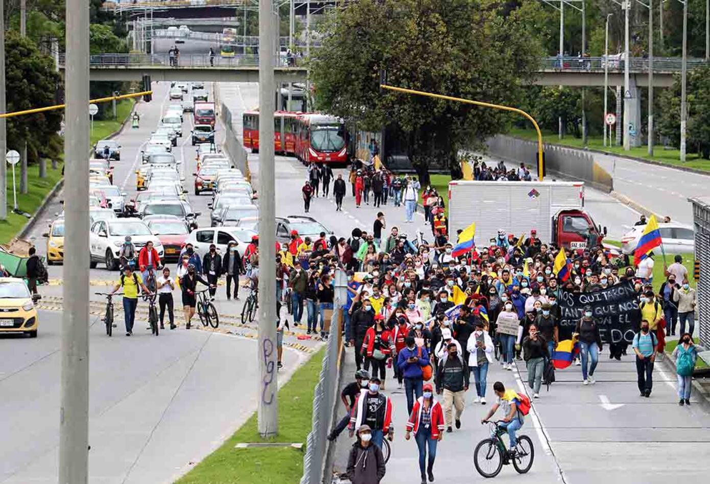 Paro nacional Colombia: protesta pacífica en Los Héroes el 12 de mayo