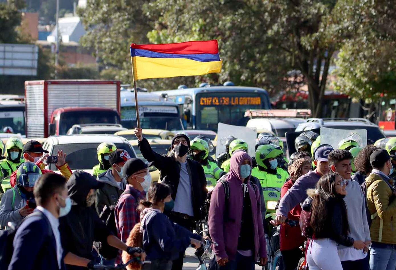 Bloqueos en Bogotá - Paro nacional