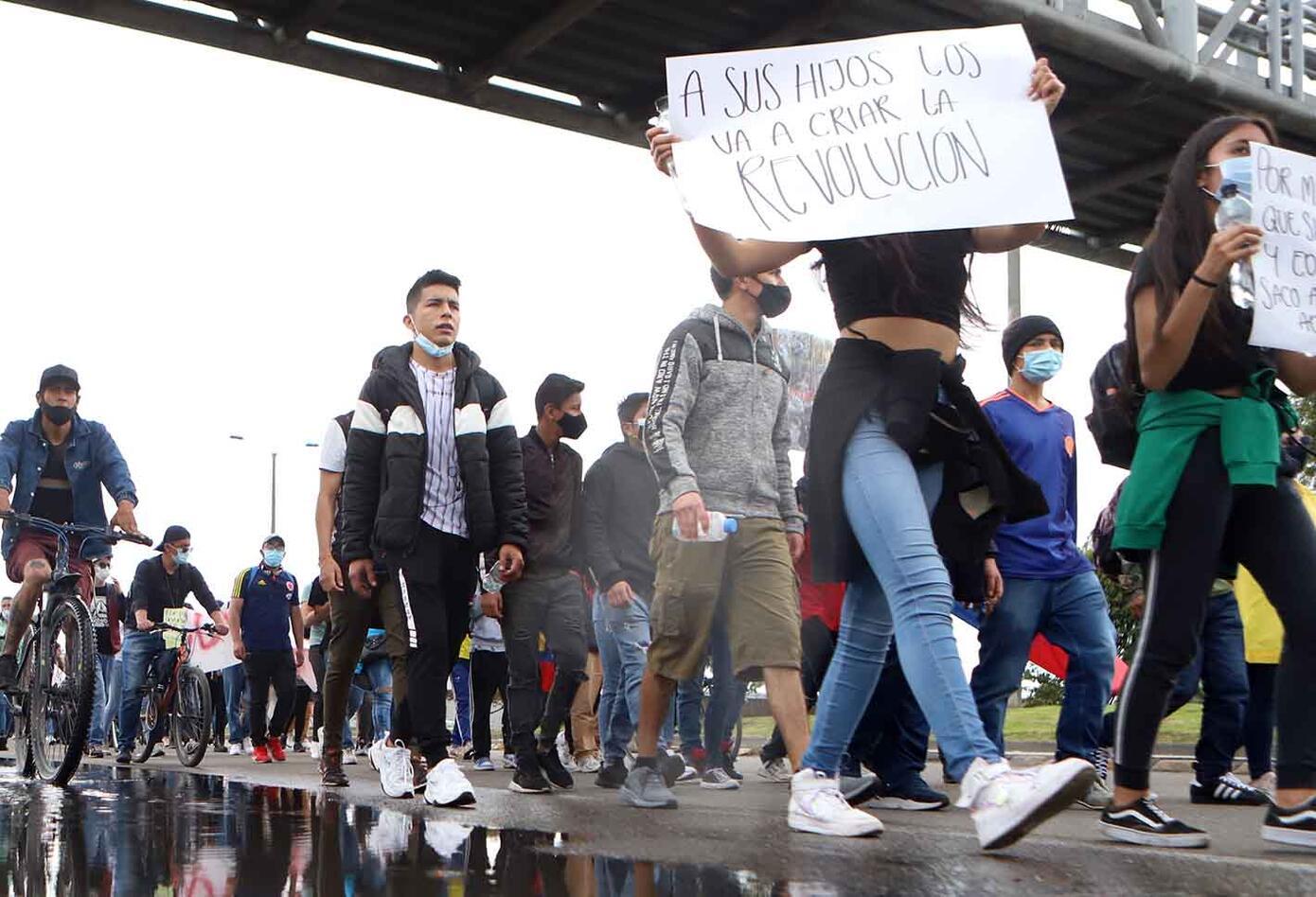 Bogotá vivió nuevas protestas en quinto día de paro nacional