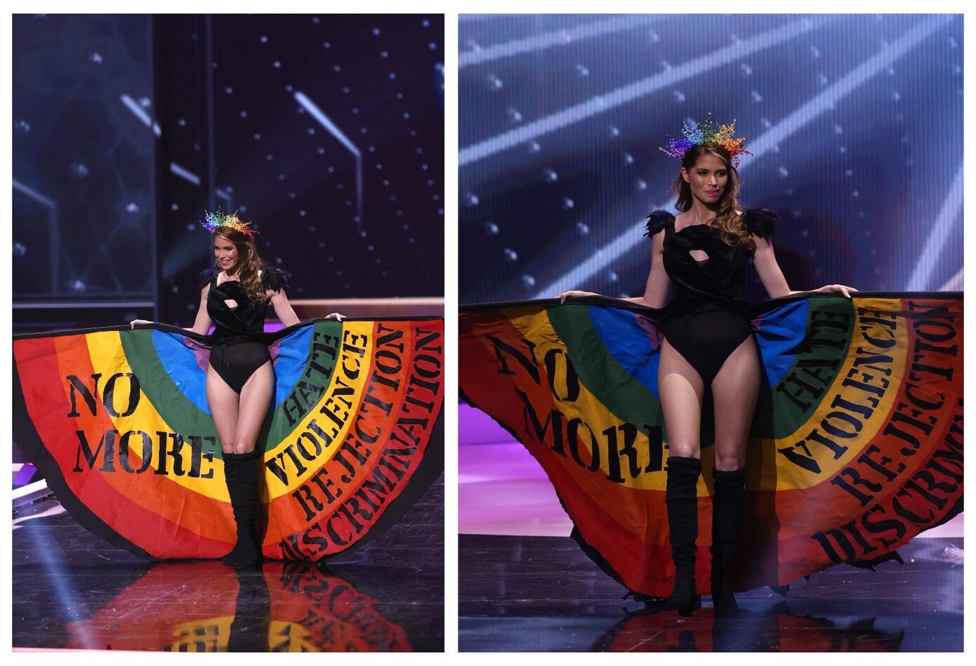 Miss Uruguay Lola de los Santos en Miss Universo