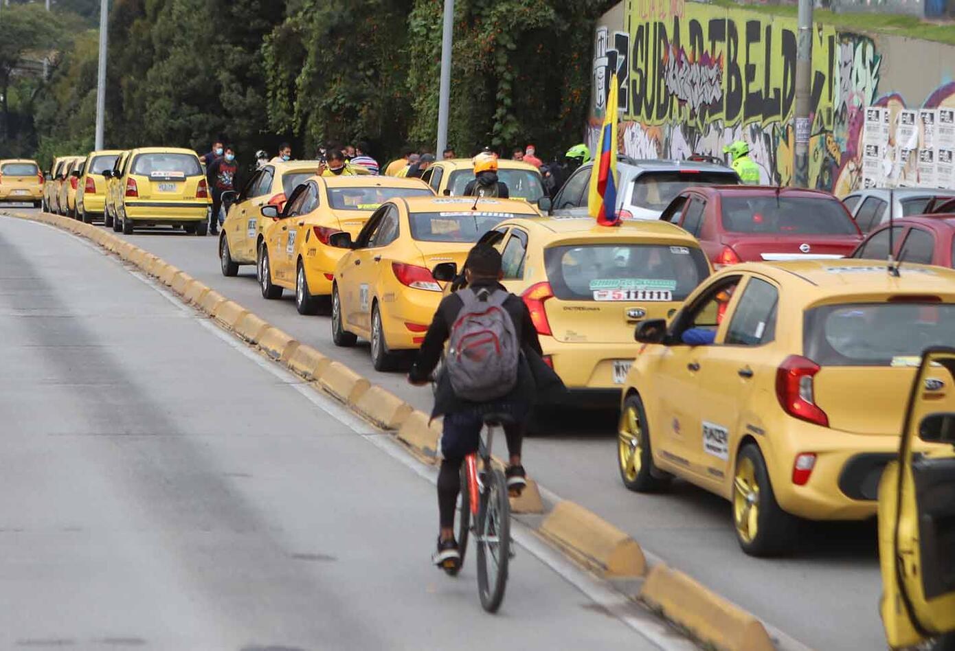 Taxistas de Bogotá / Paro de taxistas