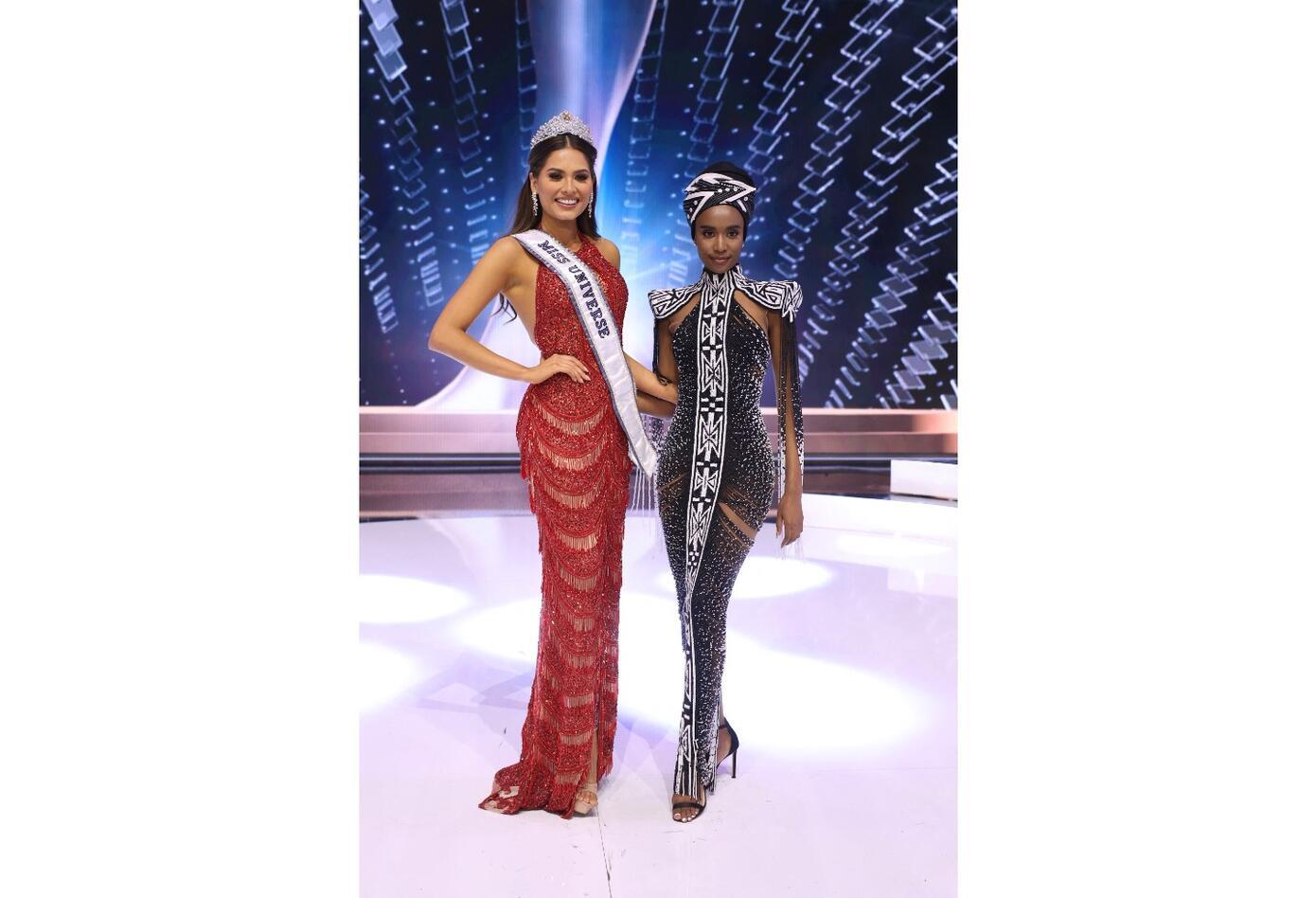 Andrea Meza, Miss Universo 2020 y Zozibini Tunzi