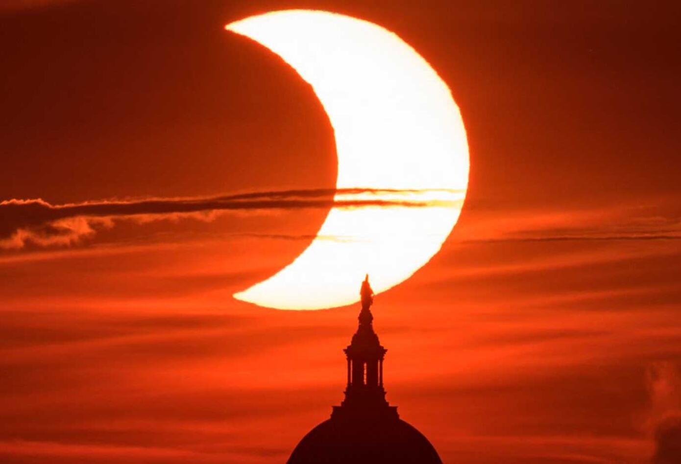 Eclipse anillo de fuego en USA