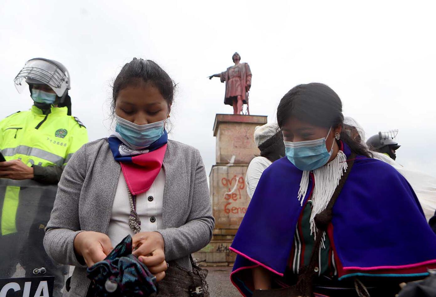 Indígenas del Pueblo Misak - protestas en Bogotá 9 de junio