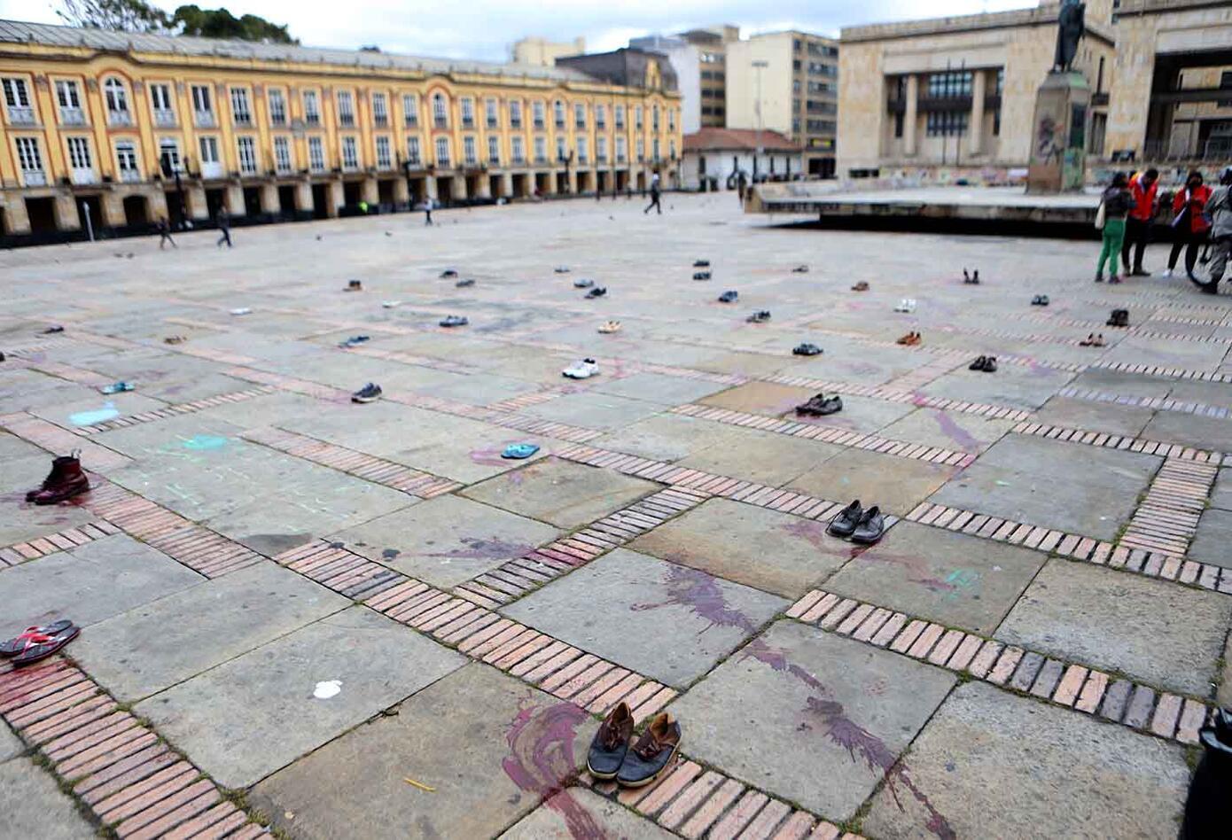 Protesta en Bogotá por muerte de líderes ambientales
