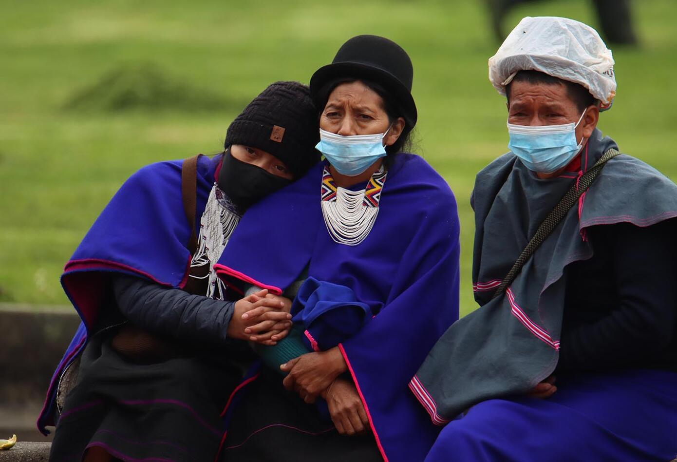 Indígenas del Pueblo Misak protestaron en Bogotá este 9 de junio