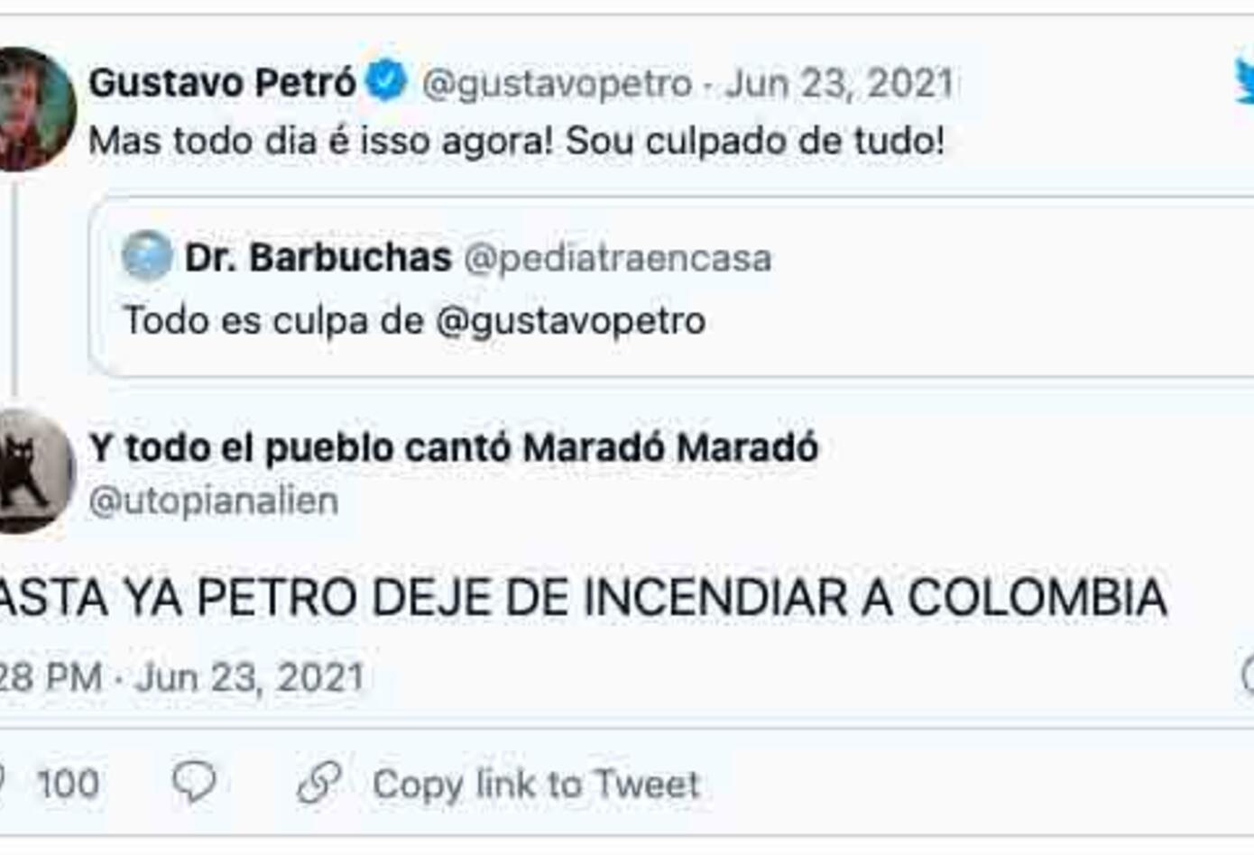 Insultos a Gustavo Petró de Brasil, homónimo de político colombiano