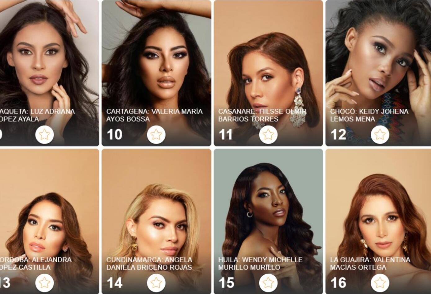Candidatas de Miss Universe Colombia 2021
