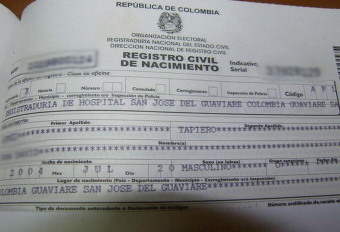 Registro Civil referencial