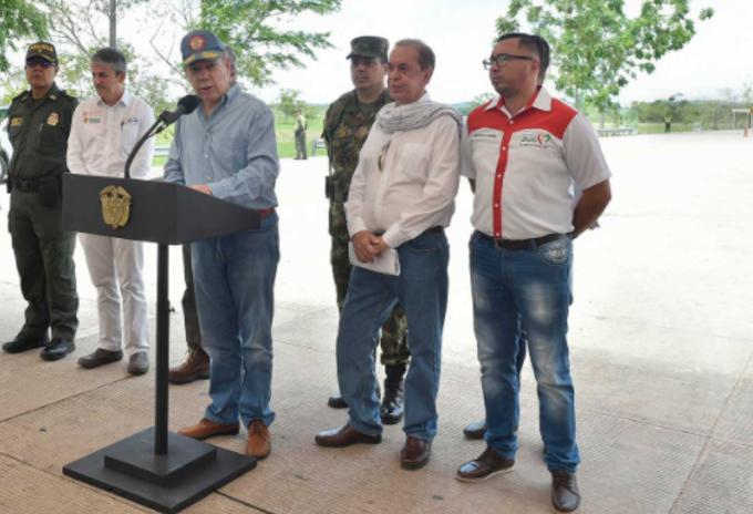 Juan Manuel Santos en Guaviare