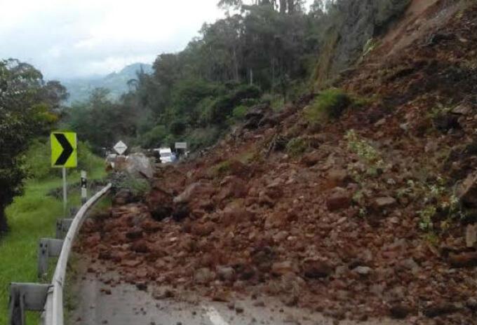 Deslizamiento de tierra en Antioquia.