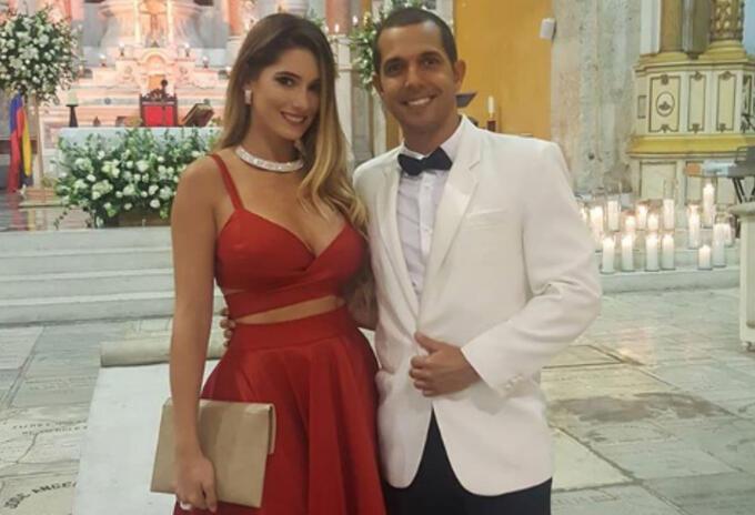 Daniella Donado y su esposo Virgilio Torres en el matrimonio de Mr. Black