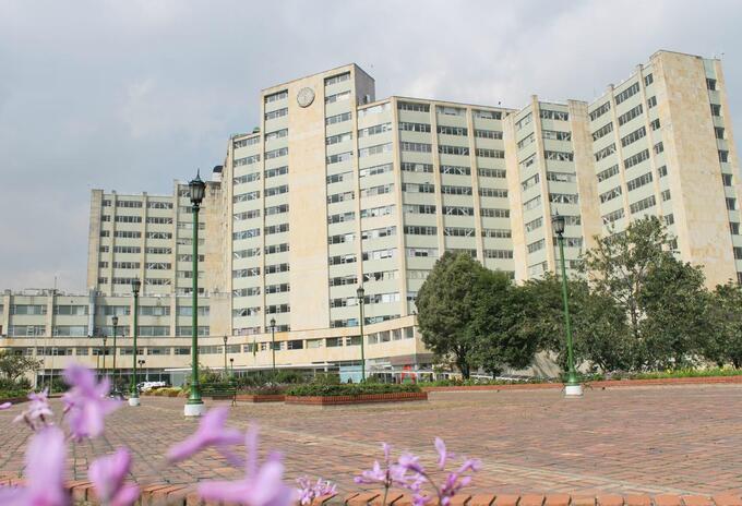 Sede del Hospital Militar, en Bogotá.