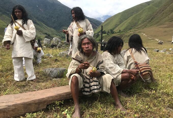 Indígenas en la Sierra Nevada de Santa Marta